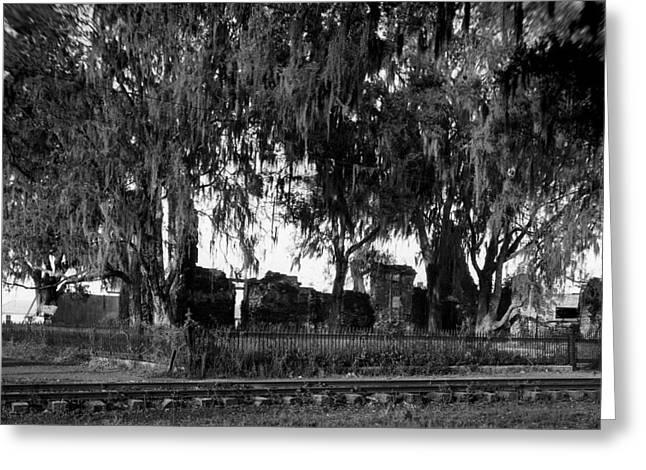 De La Ronde Plantation Home Ruins Greeting Card