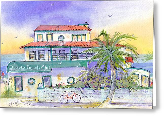 Low Country Cottage Greeting Cards - De Soto Greeting Card by Gertrude Palmer