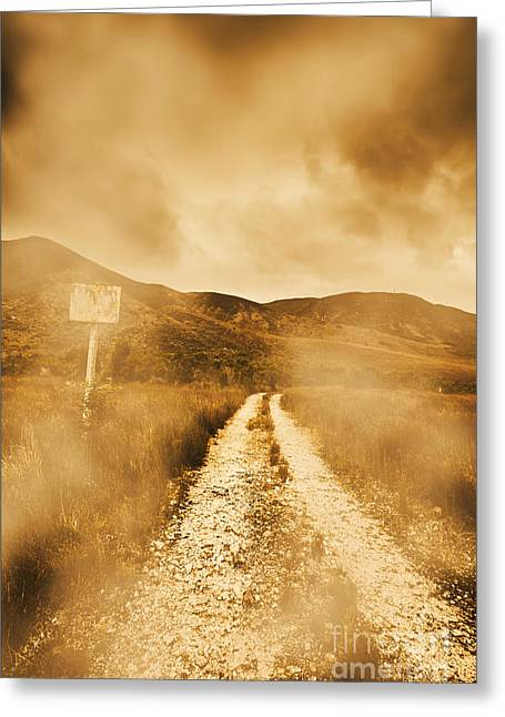 Dead End Road Greeting Card