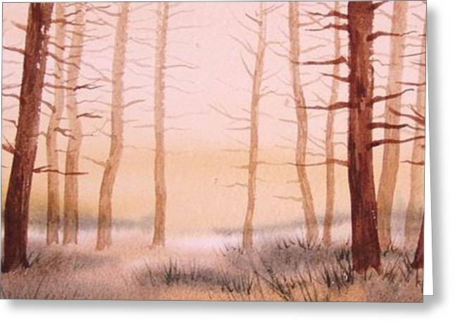 Dead Forest Greeting Card by Kevin Heaney