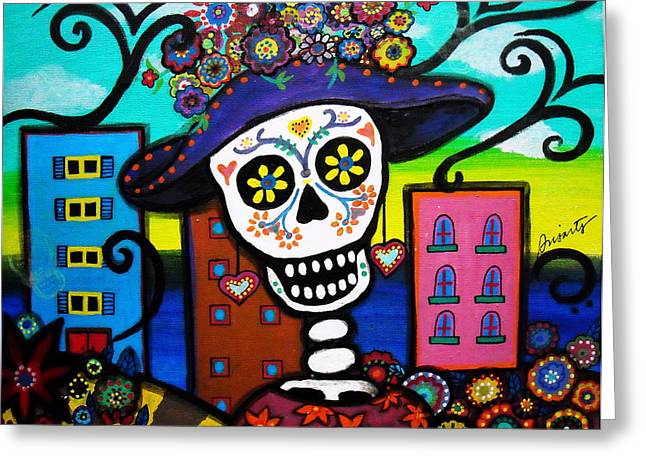 Dead In The City Greeting Card by Pristine Cartera Turkus