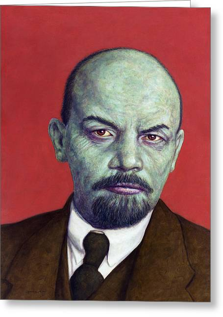 Dead Red - Lenin Greeting Card