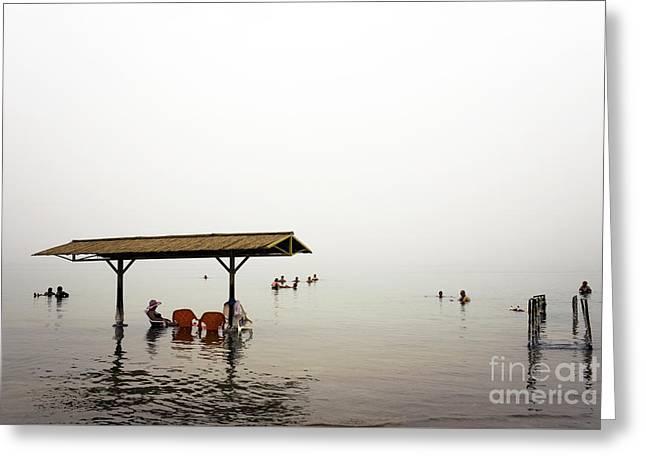 Dead Sea Greeting Card by John Rizzuto
