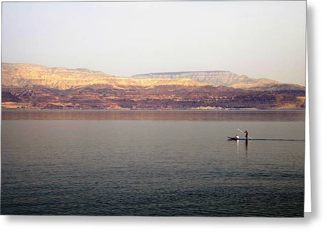 Dead Sea Sojourn Greeting Card by Deb Cohen