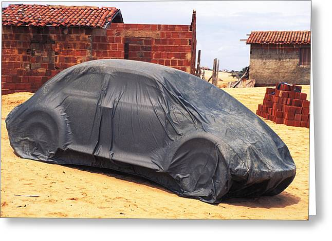 Greeting Card featuring the photograph Dead Volkswagon In Brazil by Carl Purcell