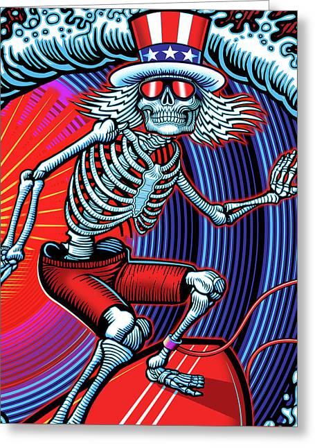 Deadhead Surfer Greeting Card