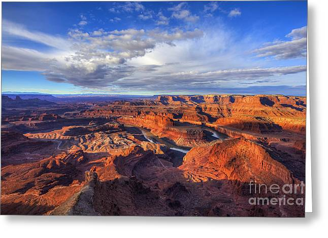 Dead Horse Point Sunrise Greeting Card by Spencer Baugh