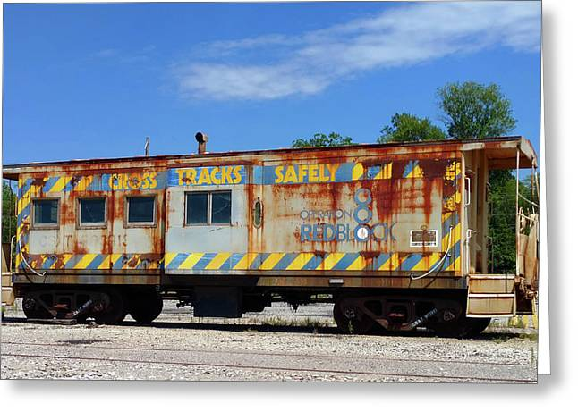 Deadline Caboose Greeting Card by Pat Turner