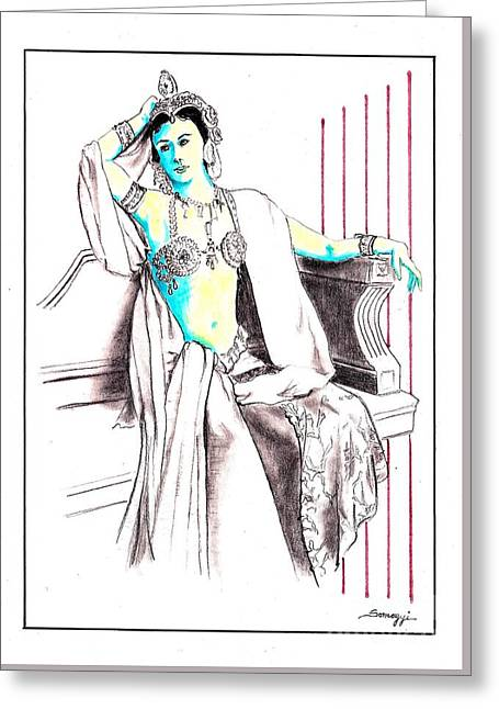Deadly Diva, Mata Hari -- Portrait Greeting Card