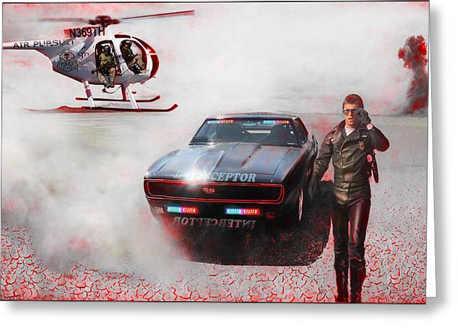Deadly Pursuit Greeting Card by Michael Cleere