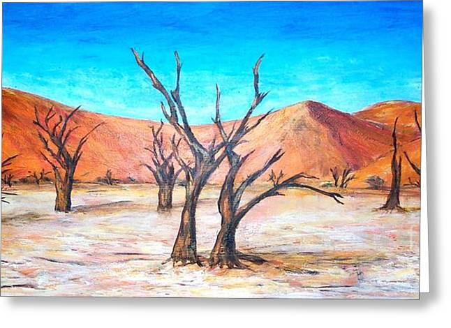Deadvlei - Namibia  Greeting Card by Mary Sedici