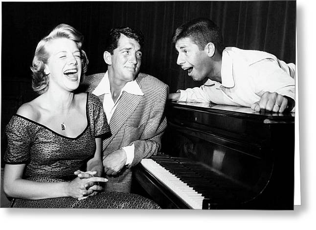 Dean Martin And Jerry Lewis With Rosemary Clooney 1950s Greeting Card by N B C