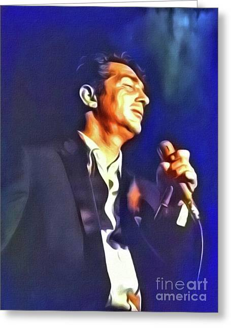 Dean Martin, Hollywood Legend. Digital Art By Mb Greeting Card