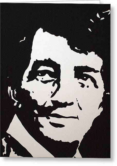 Greeting Card featuring the drawing Dean Martin Loving Life by Robert Margetts