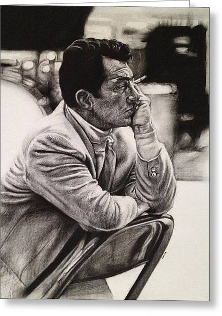 Junior Greeting Cards - Dean Martin Greeting Card by Steve Hunter