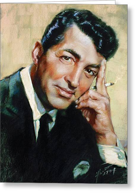Dean Martin Greeting Card by Ylli Haruni