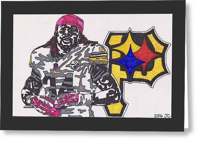 Deangelo Williams  Greeting Card by Jeremiah Colley