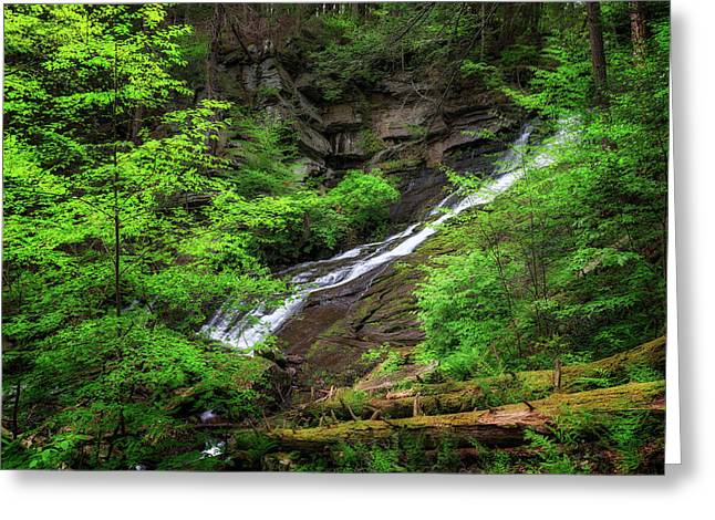 Deans Ravine Falls Greeting Card