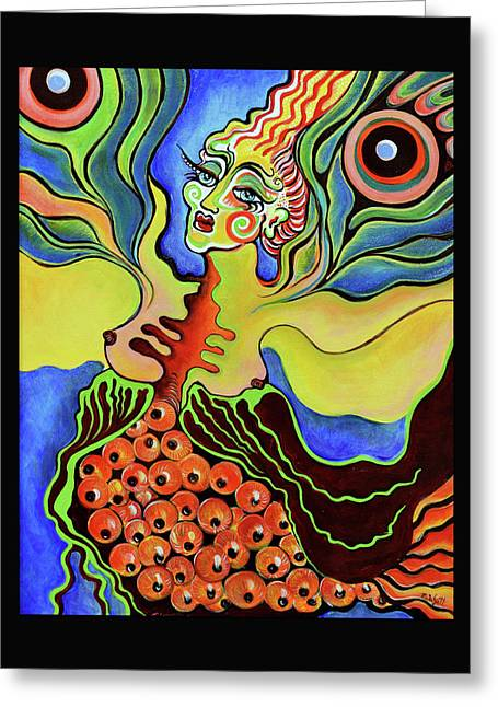 Death And Ascension Of Butterfly Woman Greeting Card