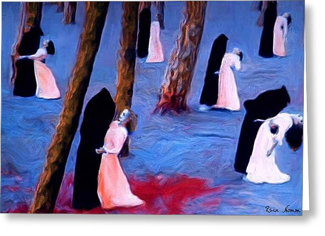 Death And The Maidens Greeting Card