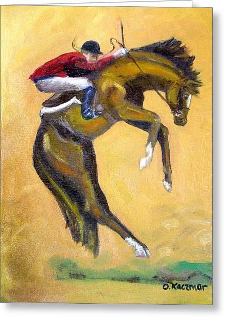 Death Defying Ride Greeting Card by Olga Kaczmar