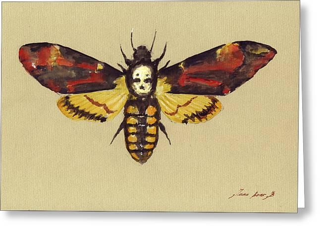 Death Head Hawk Moth Greeting Card