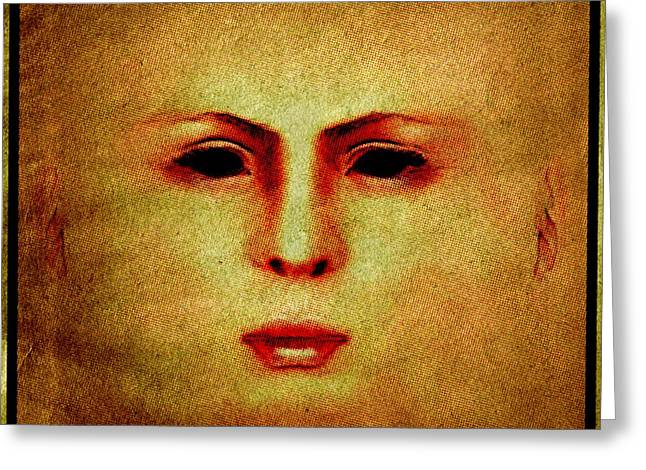 Death Mask Greeting Card by Pierre Blanchard