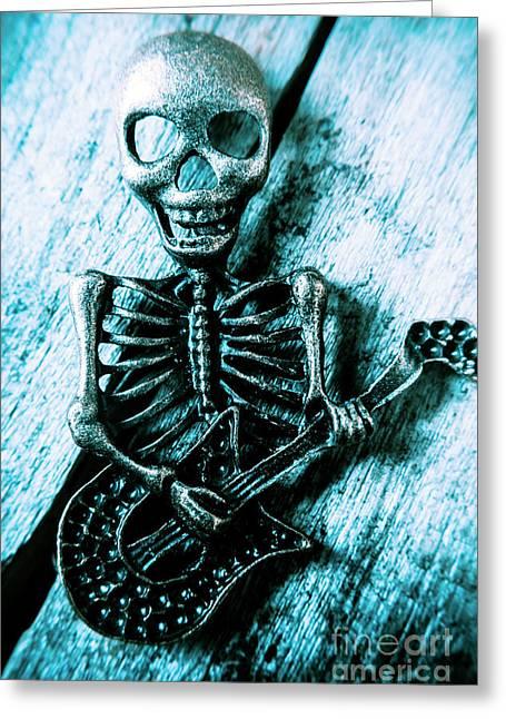 Death Metal Blues Greeting Card