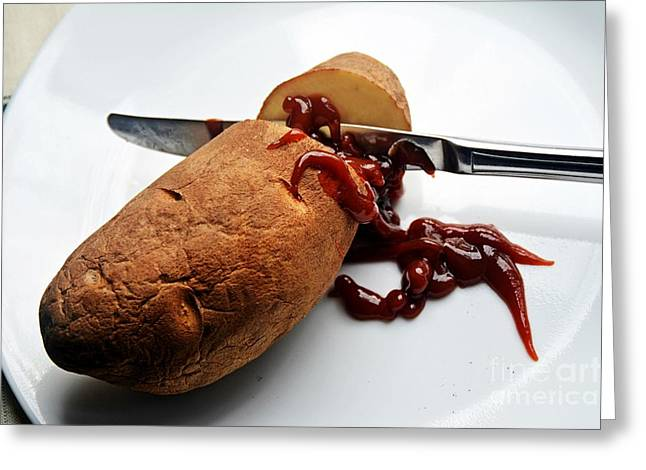 Death Of A Potato  Greeting Card by JW Hanley
