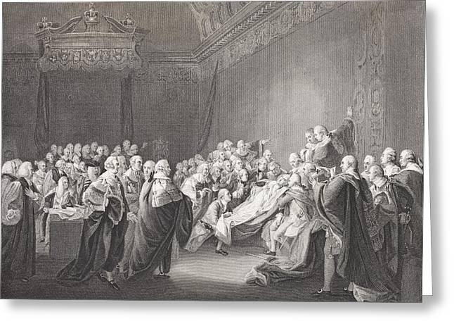 Death Of Chatham. William Pitt, 1st Greeting Card