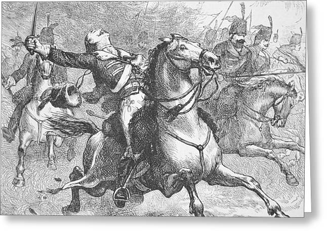 Death Of Count Casimir Pulaski Greeting Card
