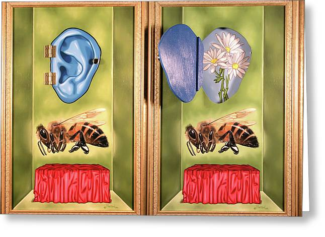 Death Of The Canadian Bee Greeting Card