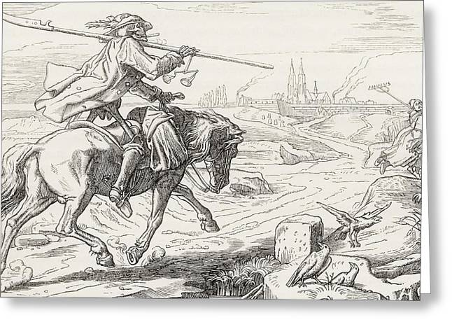 Death On Horseback From Alfred Rethel S Greeting Card by Vintage Design Pics