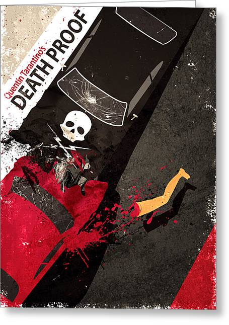 Death Proof Quentin Tarantino Movie Poster Greeting Card
