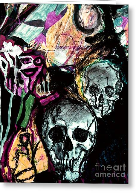 Death Study-2 Greeting Card