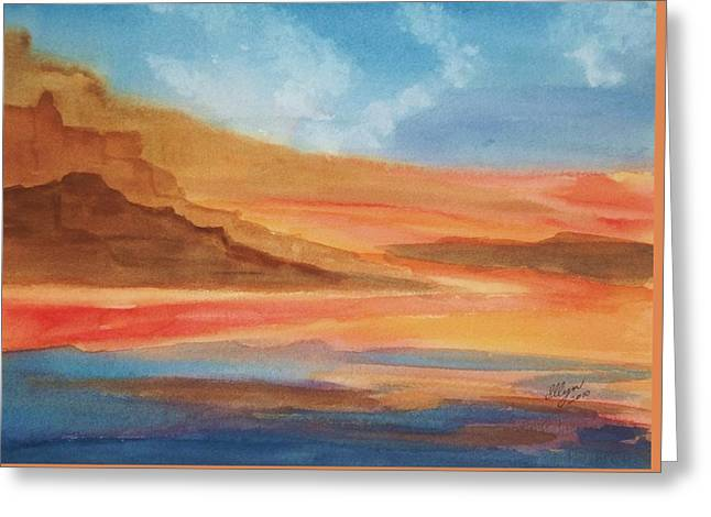 Greeting Card featuring the painting Death Valley by Ellen Levinson