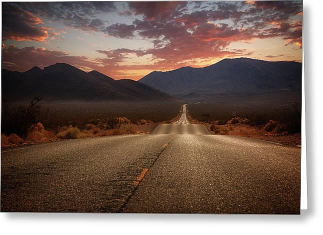 Death Valley Highway II Greeting Card by Ricky Barnard