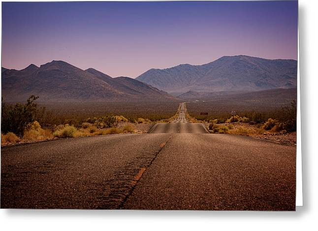 Death Valley Highway Greeting Card by Ricky Barnard