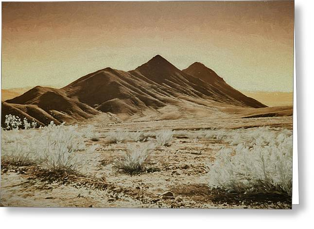 Death Valley Landscape Greeting Card