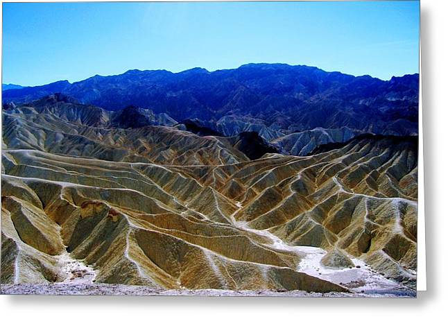 Greeting Card featuring the photograph Death Valley Moguls by Don Struke