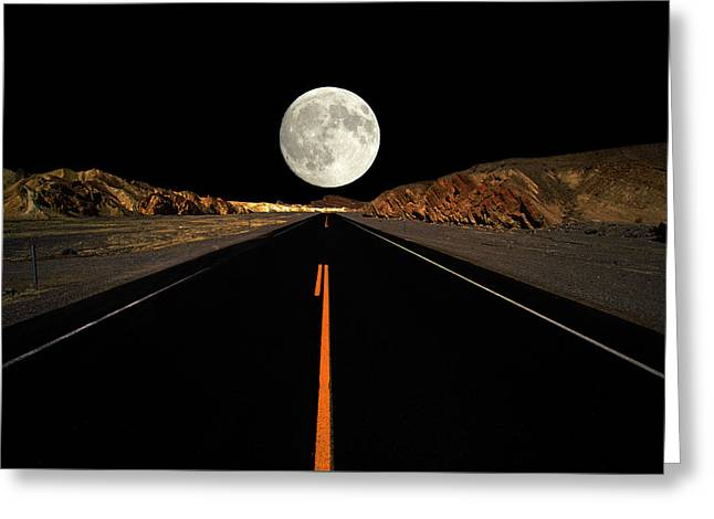 Death Valley Moon Rise Greeting Card