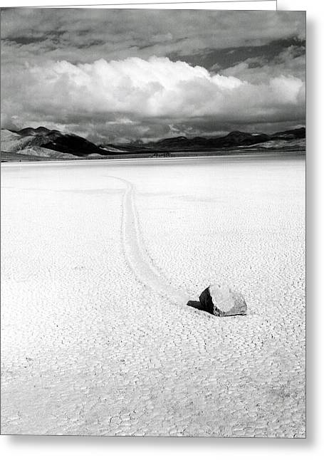Death Valley Moving Rock Greeting Card by Bruce Wayne