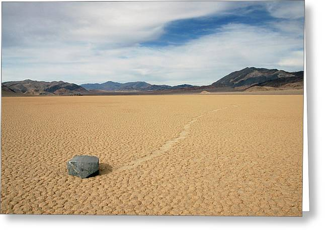 Greeting Card featuring the photograph Death Valley Ractrack by Breck Bartholomew