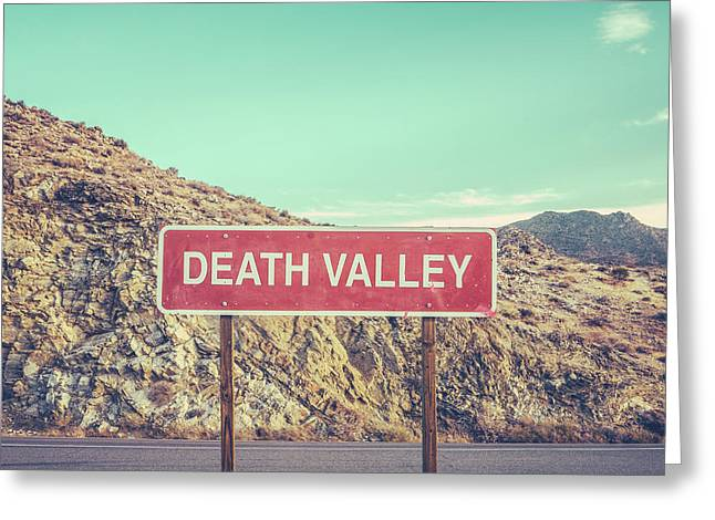 Death Valley Sign Greeting Card