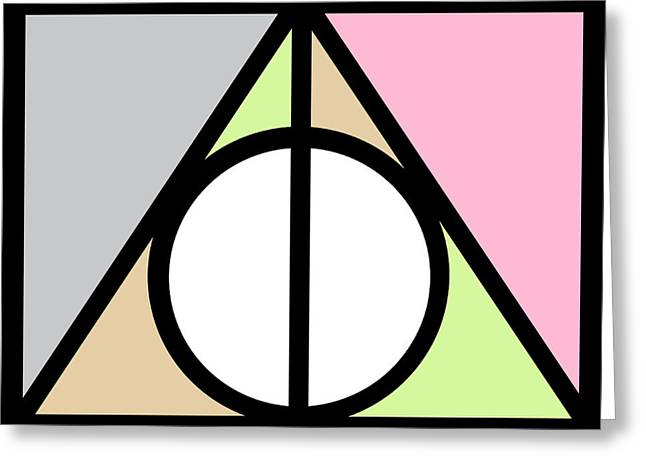 Deathly Hallows Greeting Card by Pati Photography