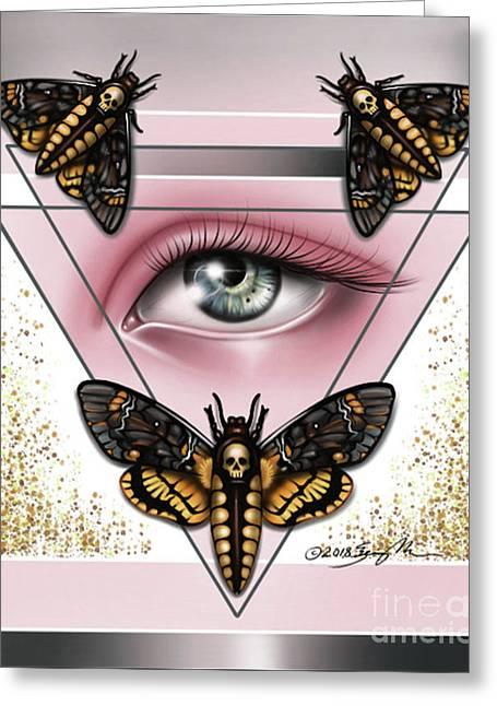 Death's Head Moths Greeting Card
