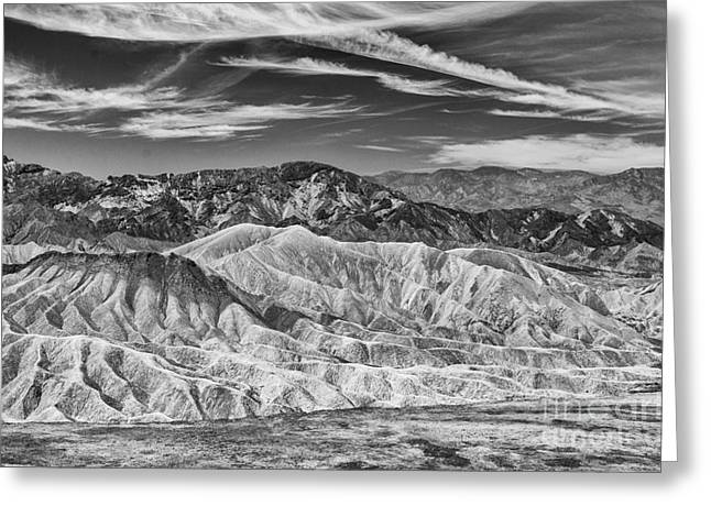 Deathvalley Cracks And Ridges Greeting Card