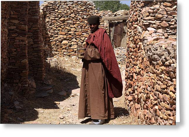 Priest Of Debre Damo Monastery, Ethiopia Greeting Card