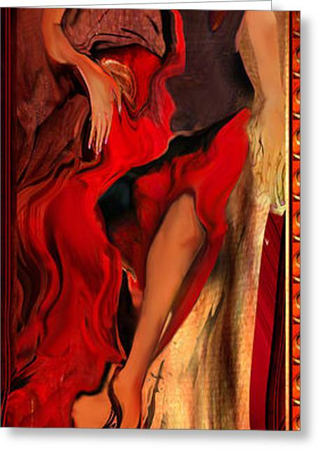 Debut In Red Greeting Card by Anne Weirich