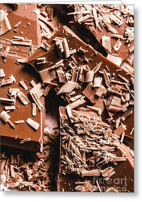 Decadent Chocolate Background Texture Greeting Card